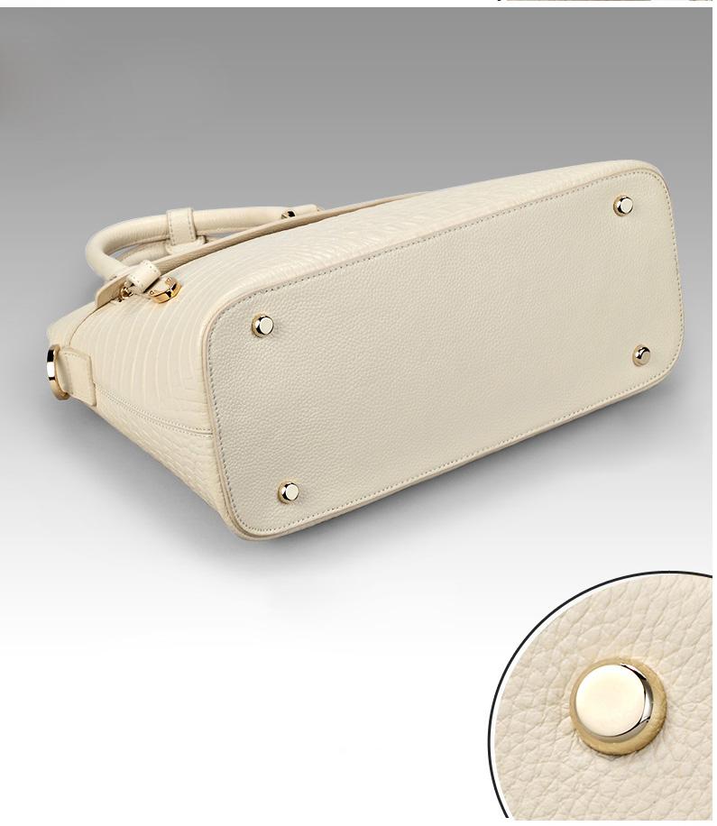 Túi xách nữ vỏ hến vân cá sấu thời trang