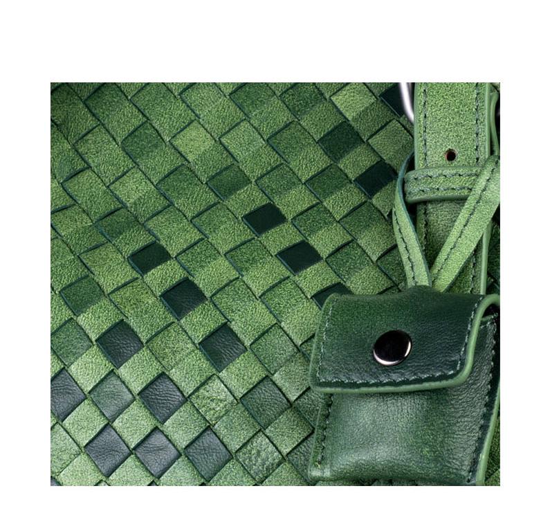 Túi xách da thật thủ công vân đan móc độc đáo TU1522