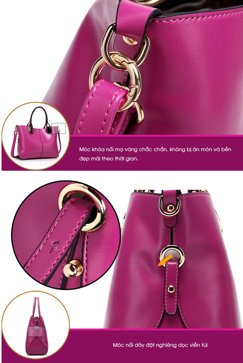 Set 2 túi xách màu hồng thời trang TU1528