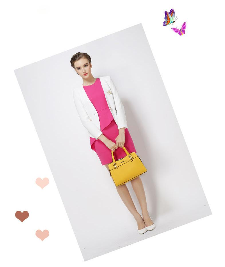 Túi xách nữ màu vàng thời trang