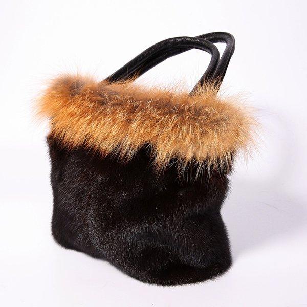 Mẫu túi xách lông chồn màu sang trọng dành cho quý cô trung niên