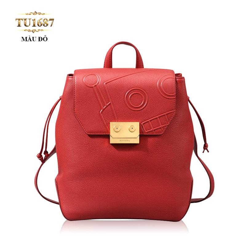 Balo dây xích Dissona cao cấp màu đỏ thời trang TU1687