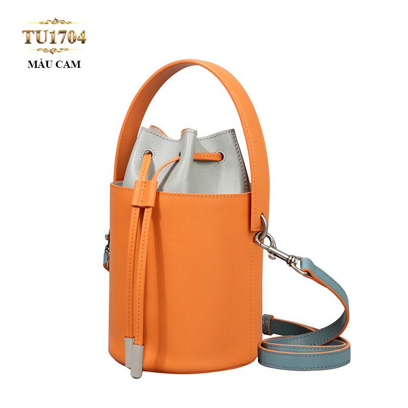 Túi bucket dáng hộp màu cam thời trang TU1704