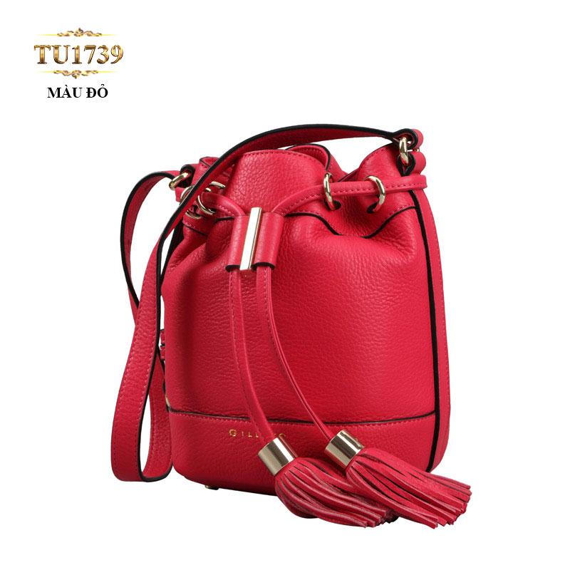 Túi bucket Gillivo màu đỏ thời trang TU1739
