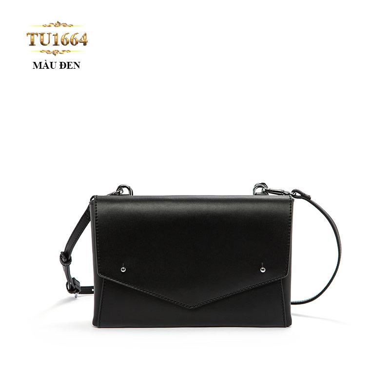 Túi đeo dáng phong bì màu đen cao cấp TU1664