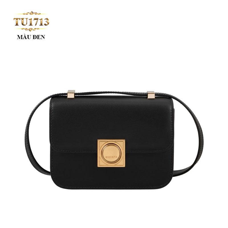 Túi hộp Dissona khóa kim loại màu đen cao cấp TU1713
