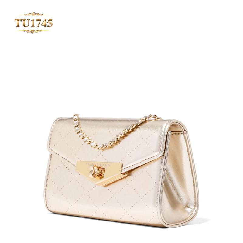 Mẫu túi xách nữ nắp khóa kim loại cao cấp tạo điểm nhấn cho sản phẩm TU1745