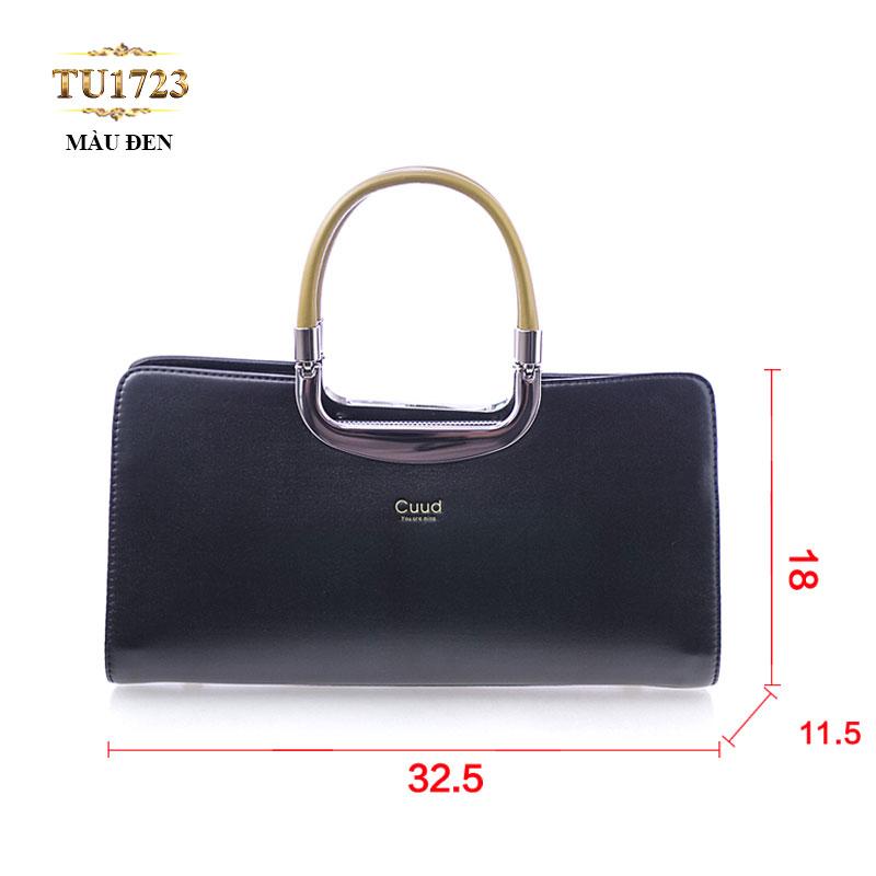 Túi xách Cuud cao cấp kiểu dáng thời trang (size nhỏ) TU1723 (Màu đen)