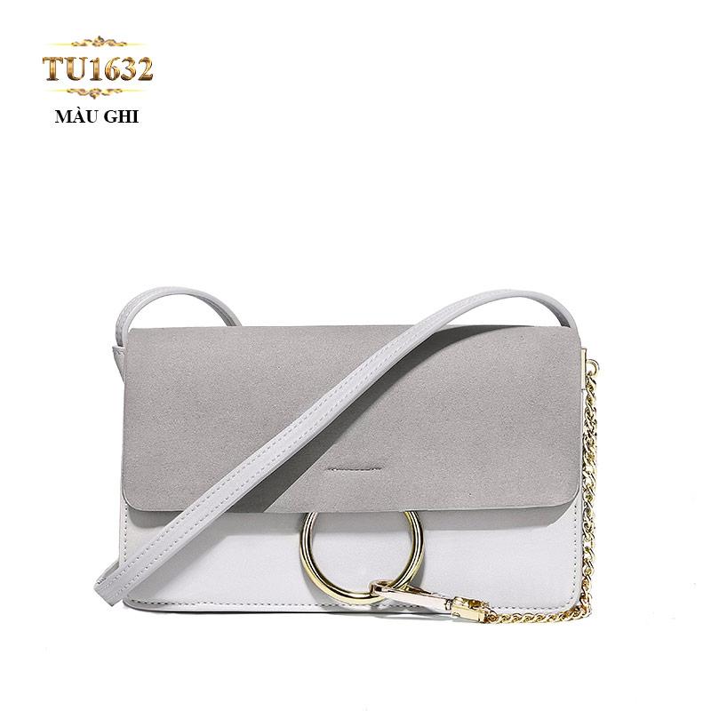 Túi xách đeo cao cấp dáng hộp chữ nhật hiện đại TU1633 (Ghi xám)