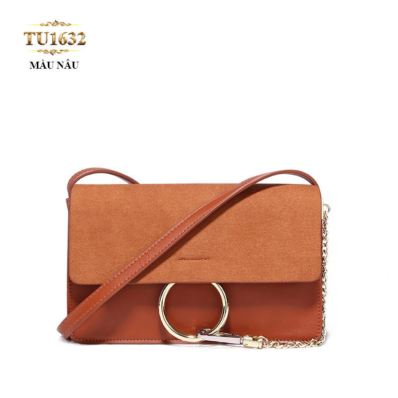 Túi xách đeo cao cấp dáng hộp chữ nhật hiện đại TU1633 (Màu nâu)