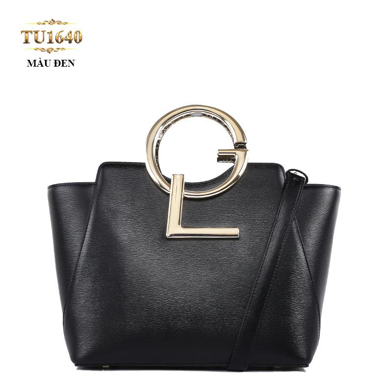 Túi xách đeo GL dáng hộp chữ nhật cao cấp TU1640 (Màu đen)
