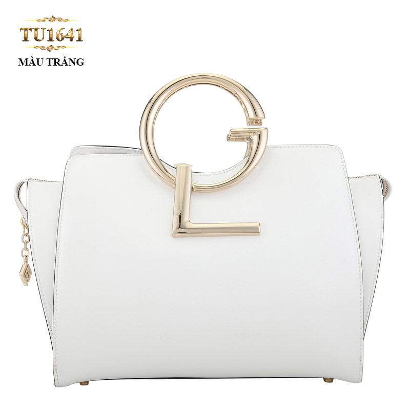 Mẫu túi xách da thật cao cấp màu trắng tinh tế, cuốn hút vô cùng TU1641