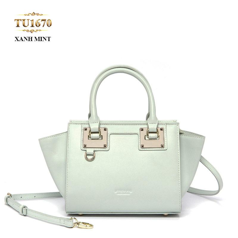 Sản phẩm túi xách nữ thời trang jessie - jane quai da cao cấp gam màu xanh tinh tế TU1670