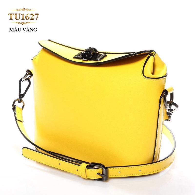 Túi xách đeo thời trang nắp khóa trên TU1627 (Màu vàng)