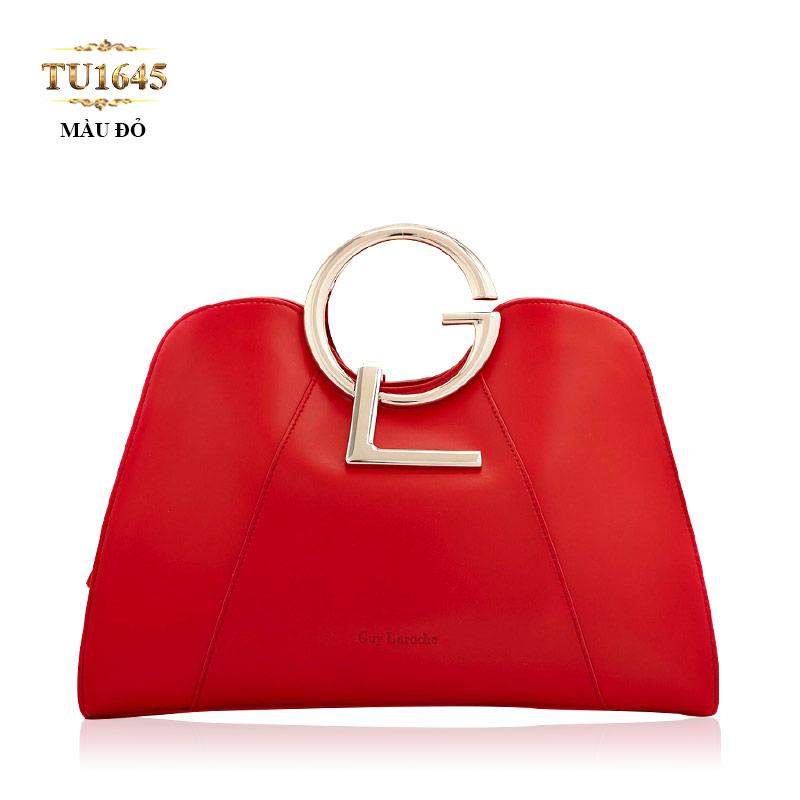 Túi xách GL cao cấp màu đỏ dáng hến thời trang TU1645 (Màu đỏ)