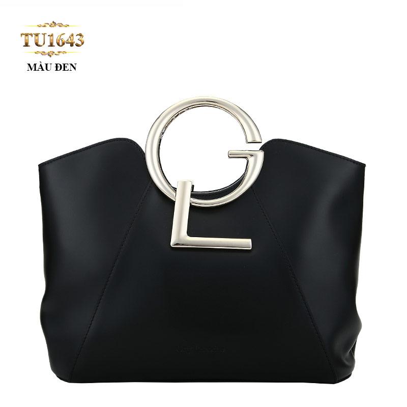 Túi xách GL cao cấp màu đen dáng vuông thời thượng TU1643