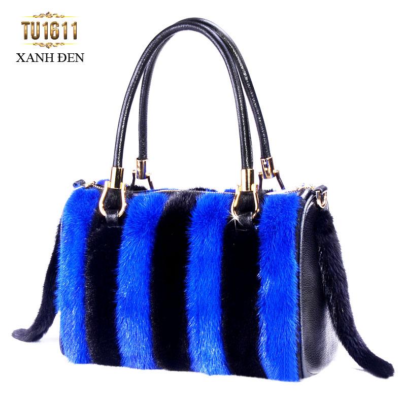 Kiểu túi xách lông phối màu thể hiện được style thời trang riêng cho quý cô công sở TU1611; Giá: 2.877.000đ