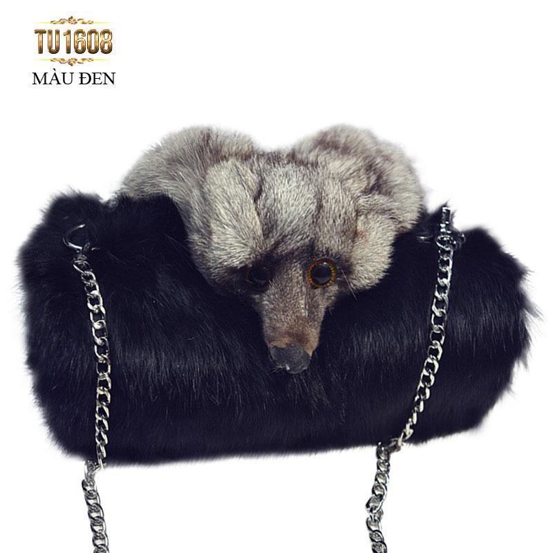 Phái đẹp nhất định nên sở hữu một chiếc túi xách lông cao cấp TU1608