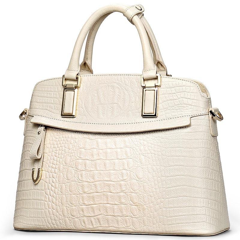 Túi xách nữ vỏ hến vân cá sấu thời trang TU1509(Trắng)