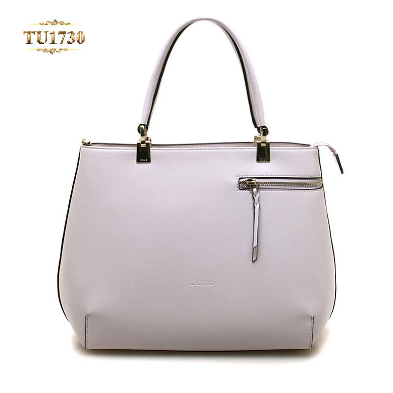 Túi xách trắng cao cấp khóa ngang thân thời trang TU1730
