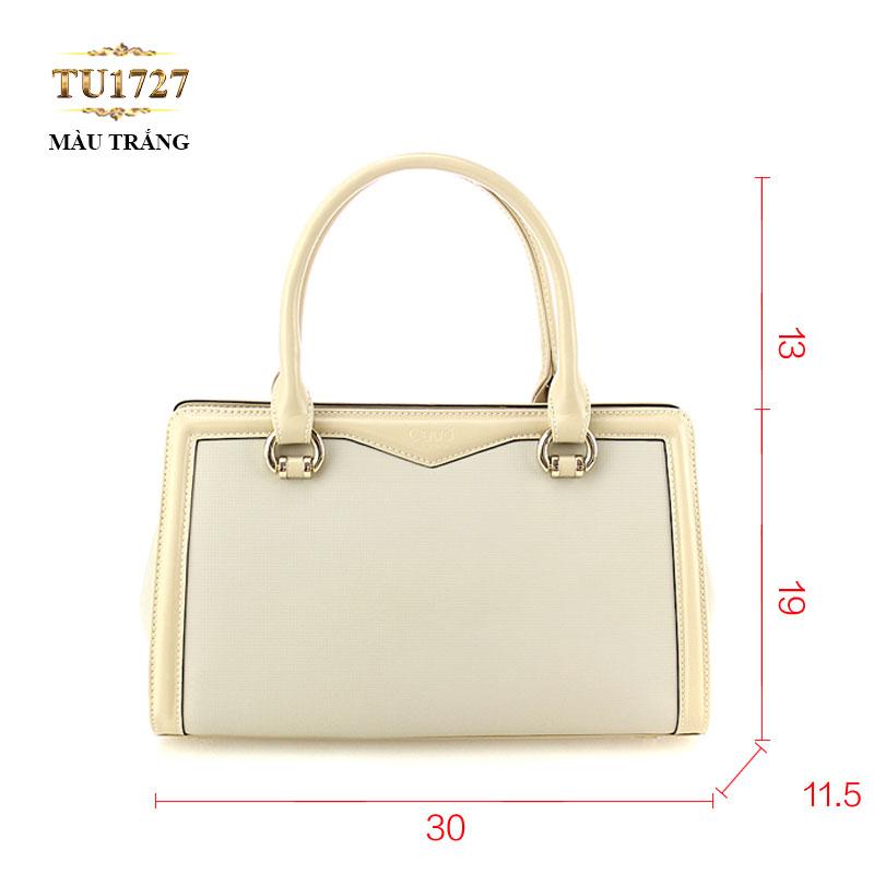 Túi xách trắng cao cấp viền kem thời trang TU1727 (Zise nhỏ)