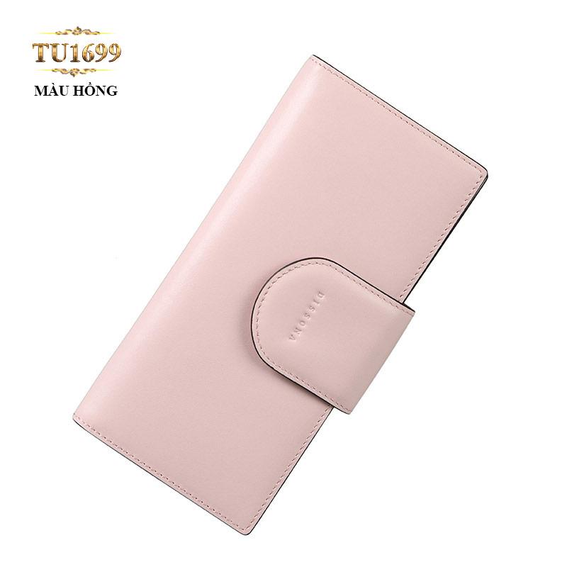 Ví cầm tay Dissona cao cấp màu hồng phấn trẻ trung TU1699